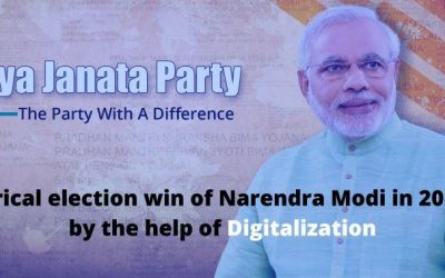 The historical election win of Narendra Modi in 2014 & 2019, by the help of Digitalization