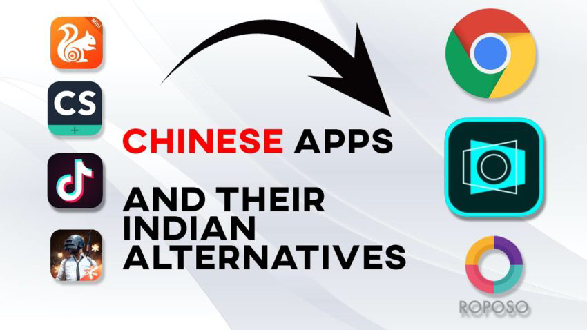 Alternative Apps of 59 banned Chinese apps